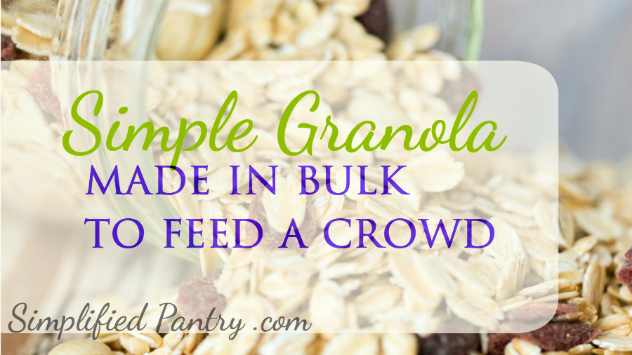 Simple, basic granola recipe to make in bulk for a crowd.