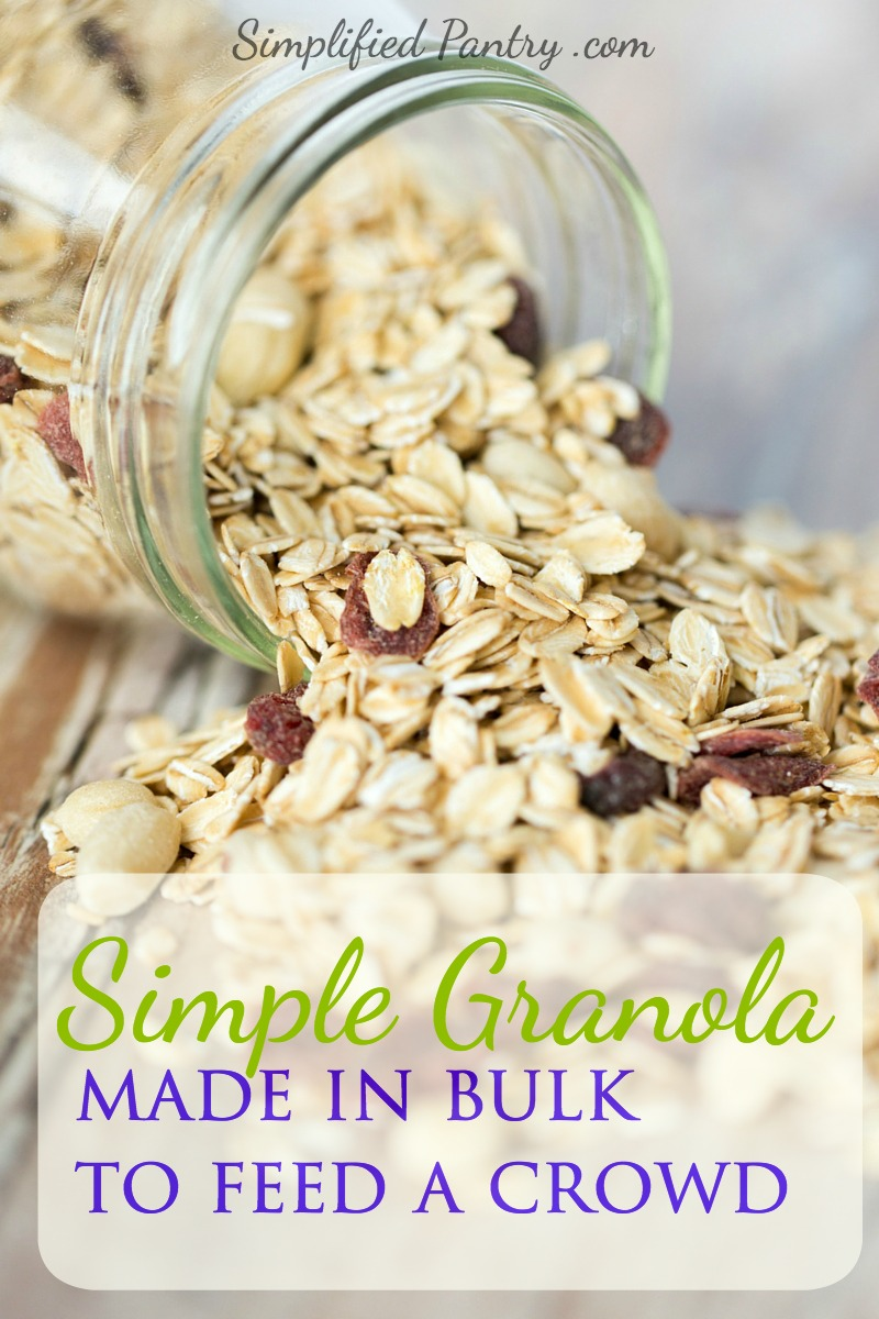 Simple Granola Recipe for a Crowd