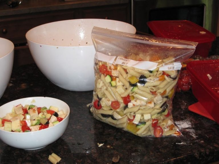 Easily feed a crowd with this chicken pasta salad recipe. Make ahead, make in batches; it will fit into your day easily and be enjoyed by all.
