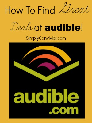 Step by step instructions for getting great deals at Audible!