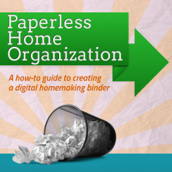 digital paperless home organization planner