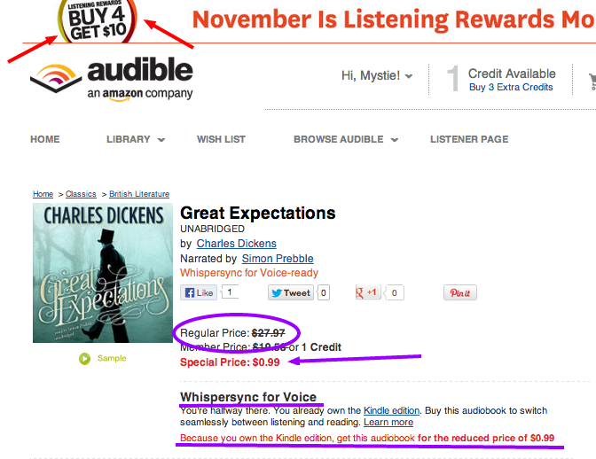 audible cheap audio books