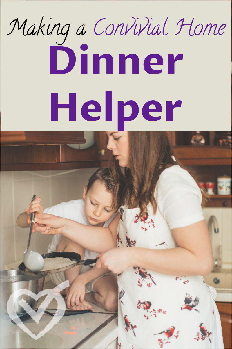 Here is one way I have tried to introduce quality, relationship-building time into our days, enlisting them as a dinner helper.
