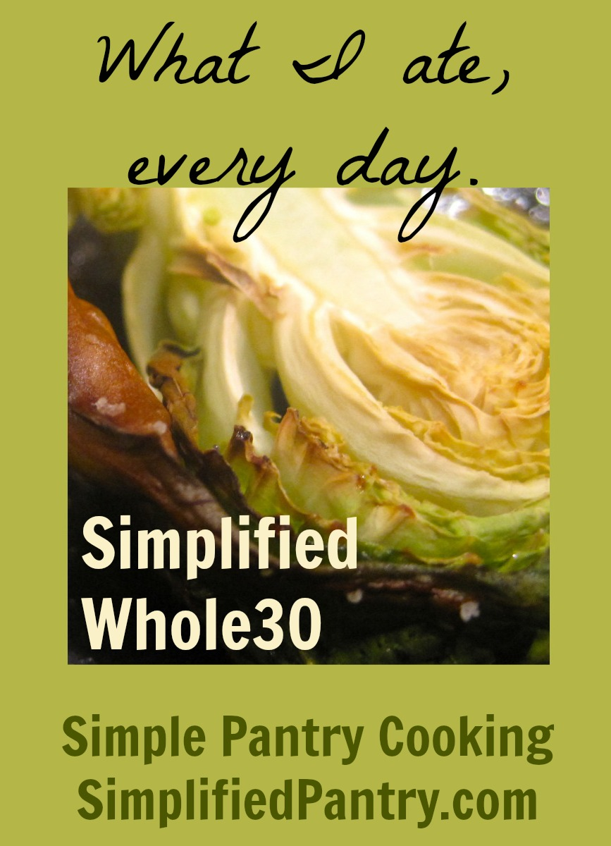 Whole30 Daily Photo Journal