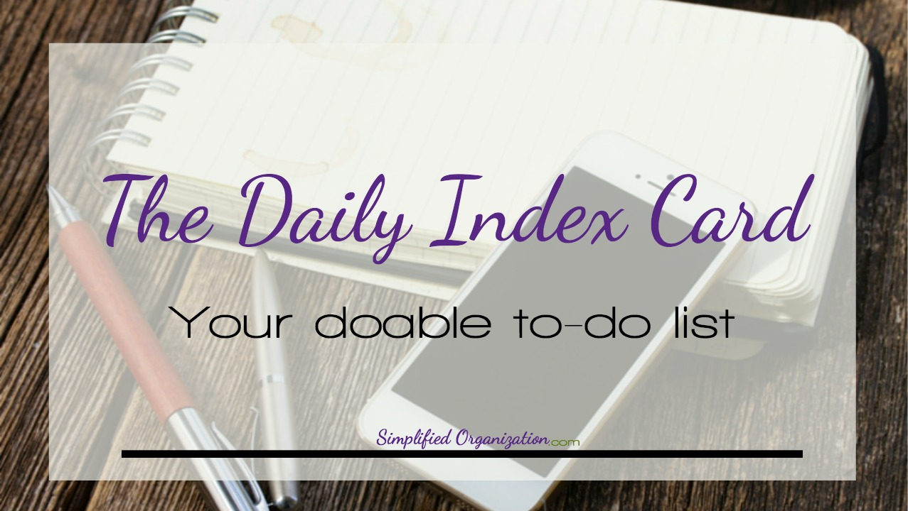 I'm all about digital and paperless planning - but sometimes the internet has distractions. Learn why an index card to-do list is so effective and useful.