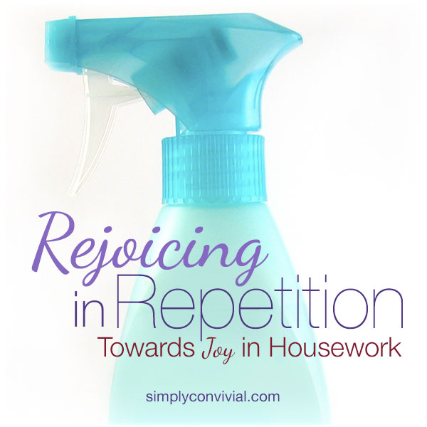 Rejoicing in Repetition: Towards Joy in Housework will help you find the beauty in the mundane