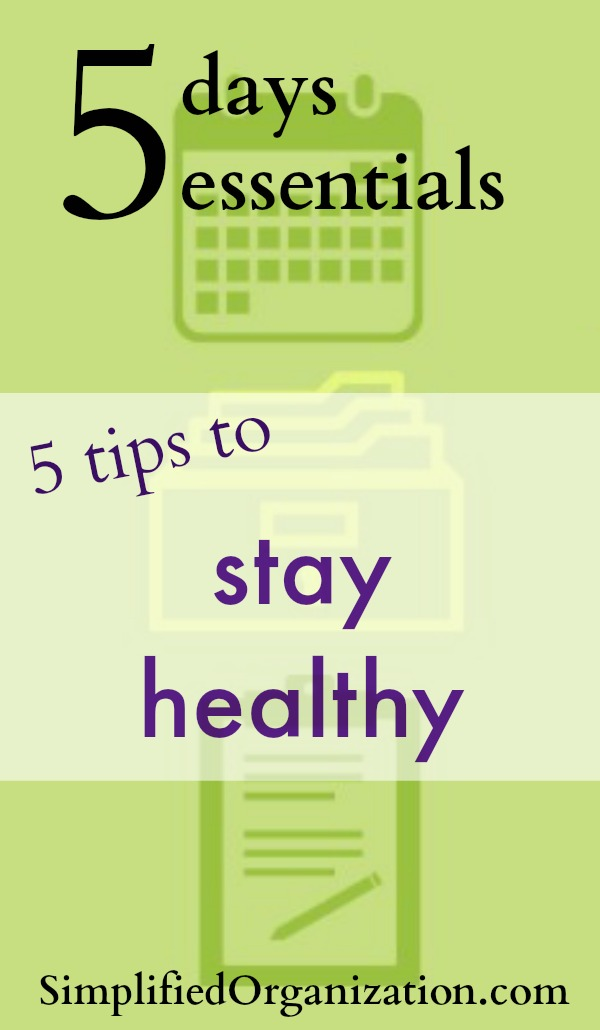 We all want to be healthy. I've got five easy tips that you can start today to feel your best every day. Keep yourself healthy to keep the family healthy.