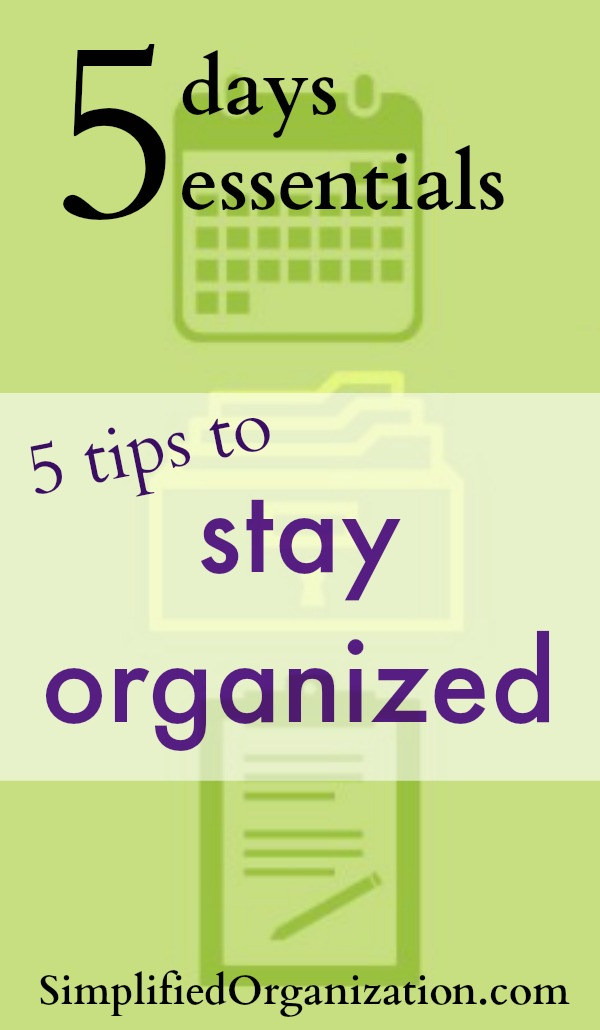 The start of school means getting organized in all aspects of life after the lazy days of summer. Take these tips and stay organized starting now!