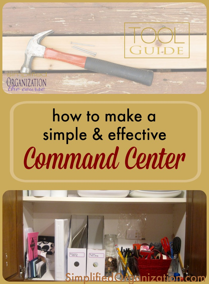 A command center doesn't have to be cute or color-coordinated to be effective and organized.