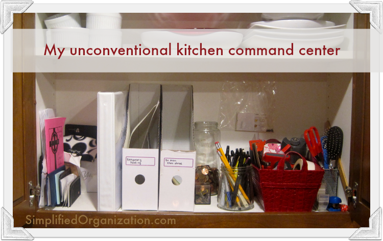 My simple and effective kitchen command center - It doesn't have to be pretty to be organized