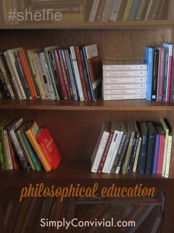 My philosophical education bookshelf
