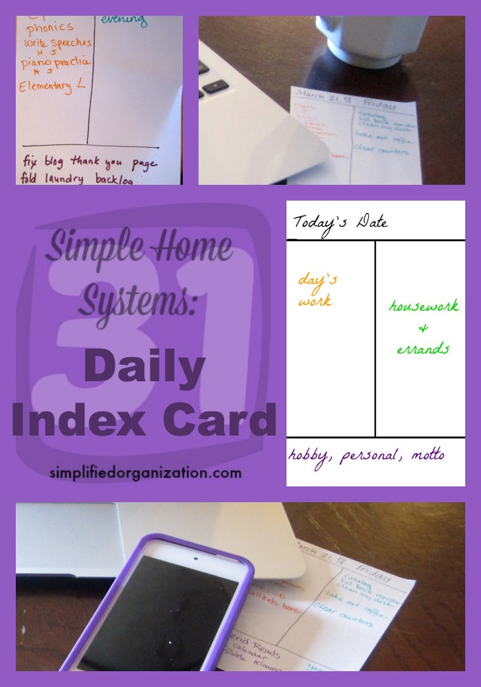 An index card will help you keep your daily to-do list short