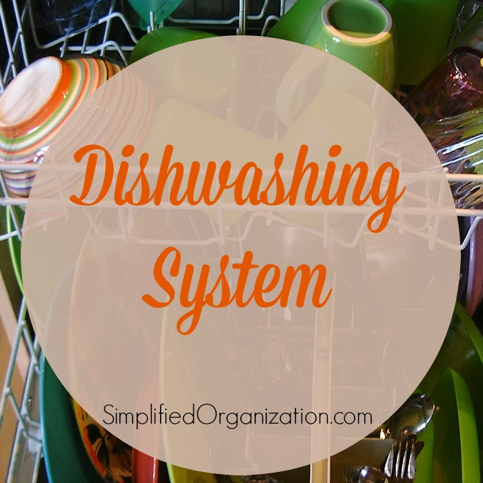 A system is just the way you do things, and the more you do something one way, the more automatic it becomes. One such simple system is the process by which dishes go from dirty to clean to put away.
