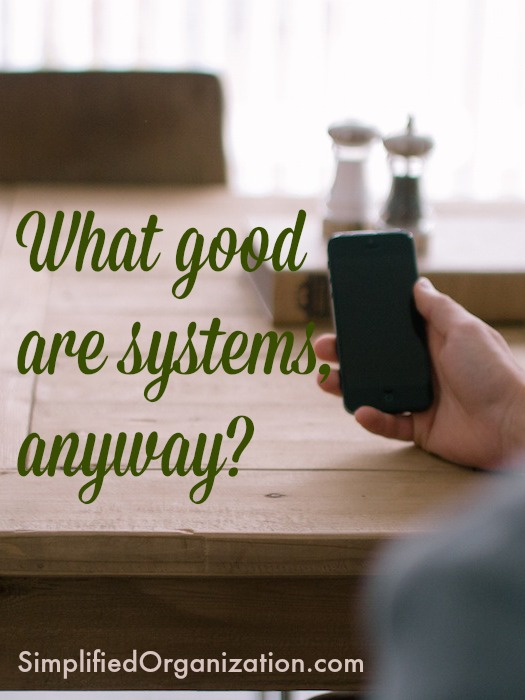 Systems are the WAY we do work - they don't make work disappear. Learn how systems can help in all aspects of home and work.