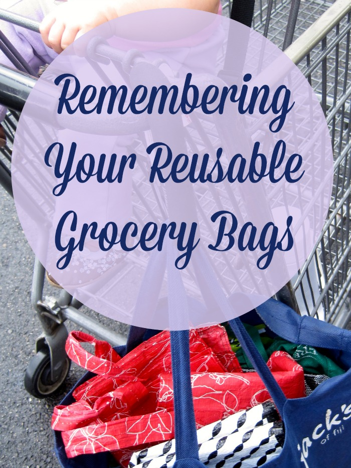 I like to use reusable bags, but it can be challenging to remember them.