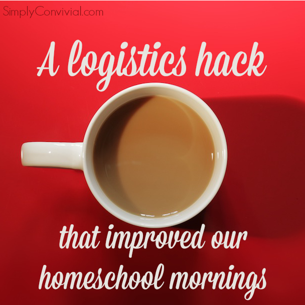 How a simple solution totally changed the mood of our homeschool mornings. Sometimes the best homeschooling ideas aren't about curriculum. This simple tweak to our morning is teaching life skills: independence and self-starting.