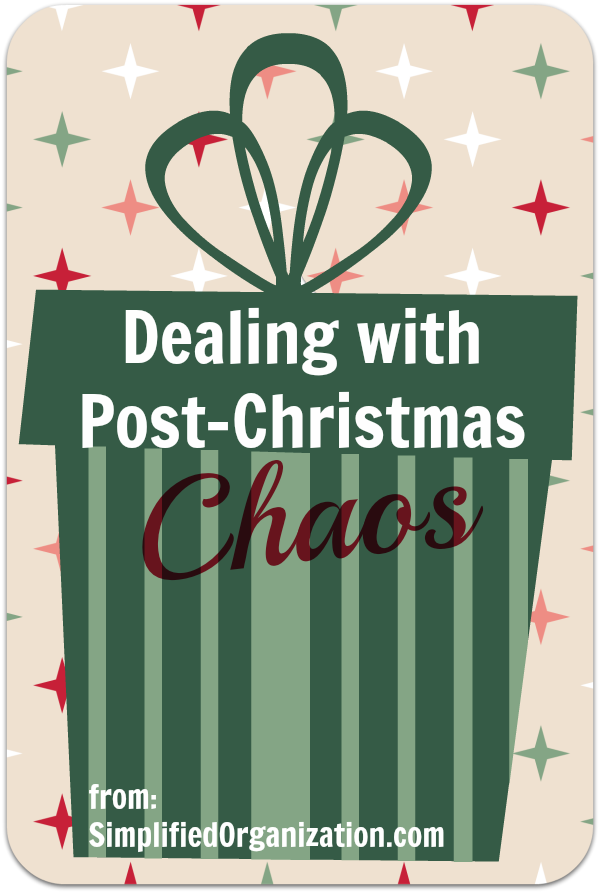How to quickly deal with post-Christmas chaos in your house.