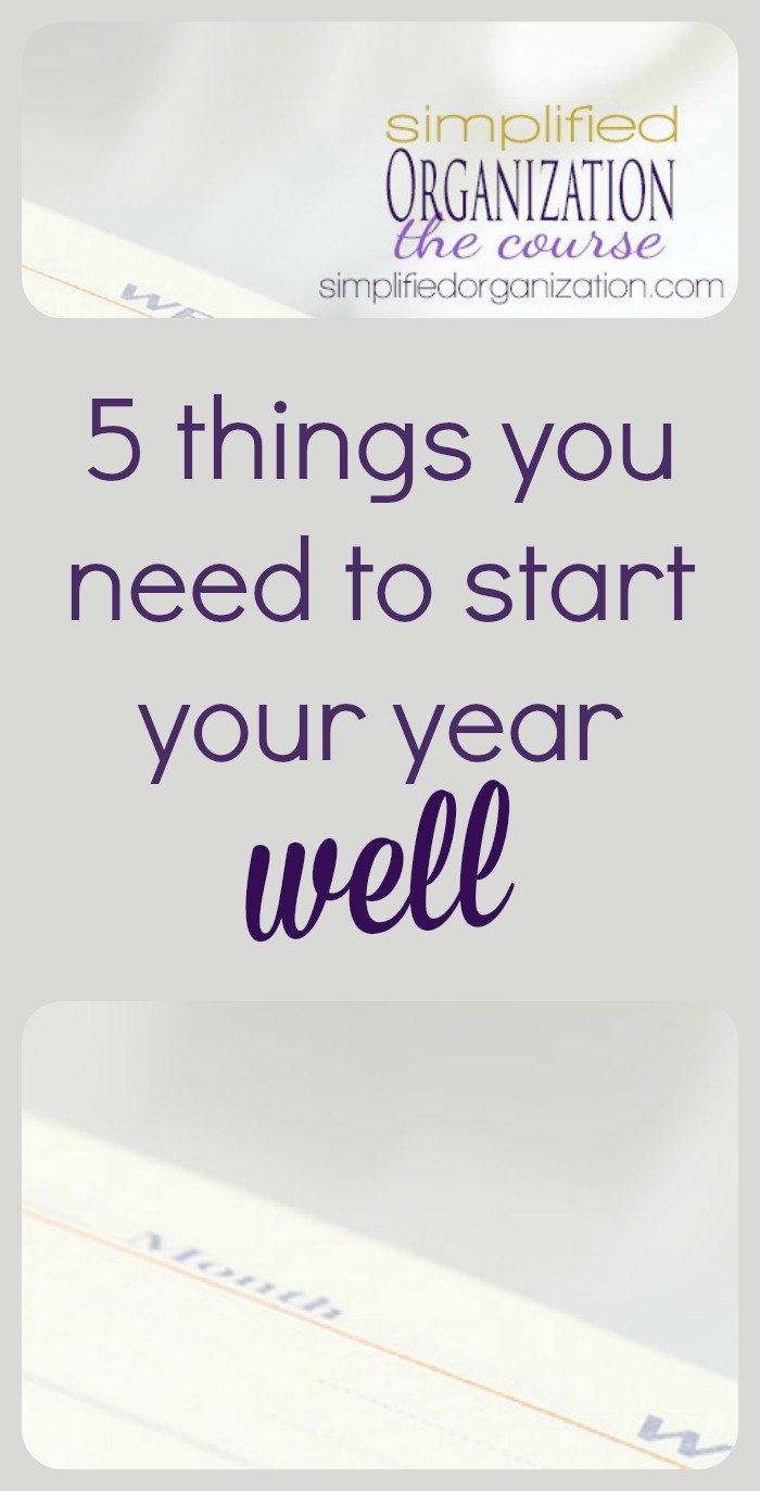 I've learned there are a few support systems that really help any organizational, motivational, or intentional goal stick. These five things will help you start your new year well.