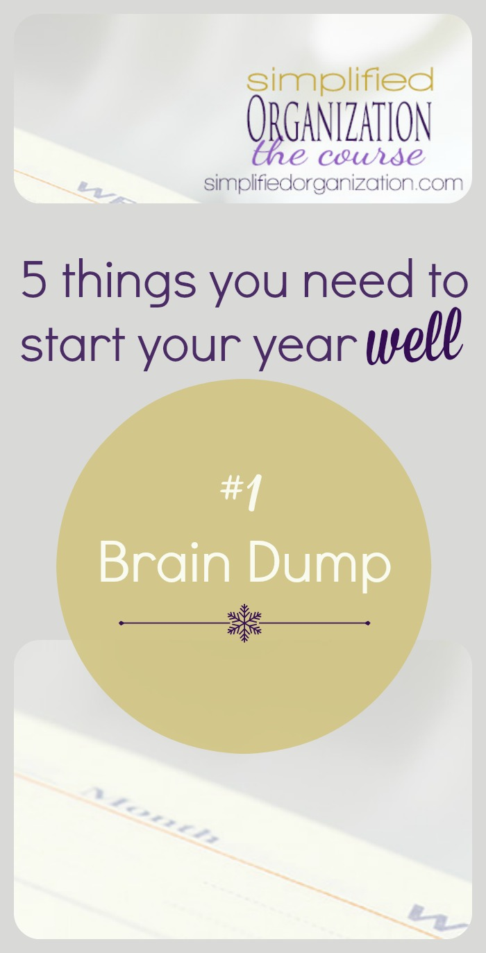 Before you can set realistic or intentional goals for the upcoming year, you need to start with an empty head.