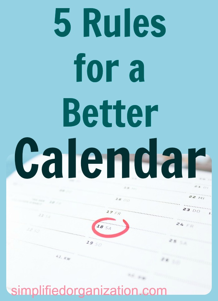 Your calendar is your #1 productivity tool to get organized. Improving how you use a calendar can be a keystone habit that will help other areas, as well.