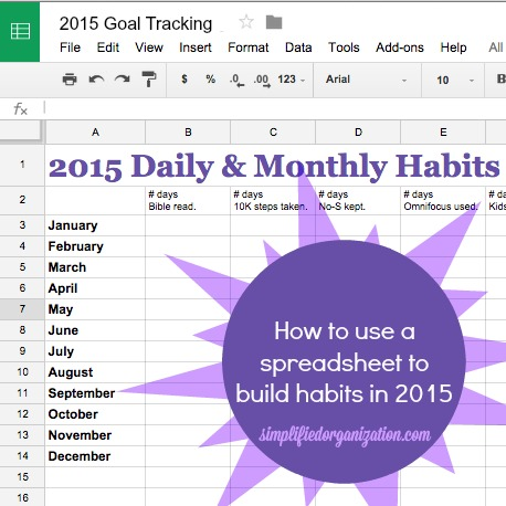 Track Your Progress With A Goal Tracking Spreadsheet  Simplified
