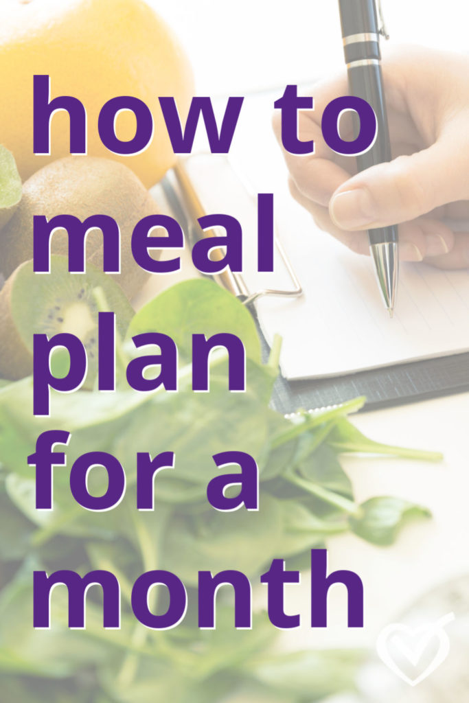 how to meal plan for a month or more