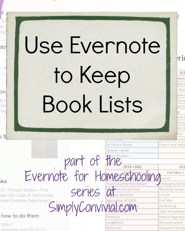 How to Use Evernote for Homeschool Book Lists