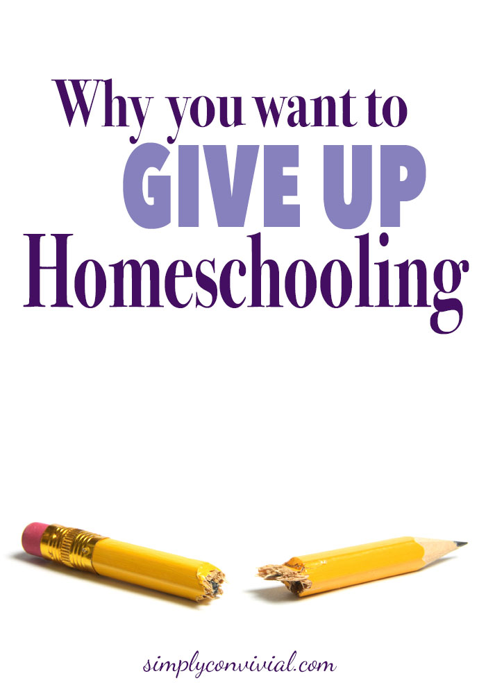 The work is ours; the results are not. Homeschool encouragement for moms who want to quit homeschooling or who are just having some bad days.