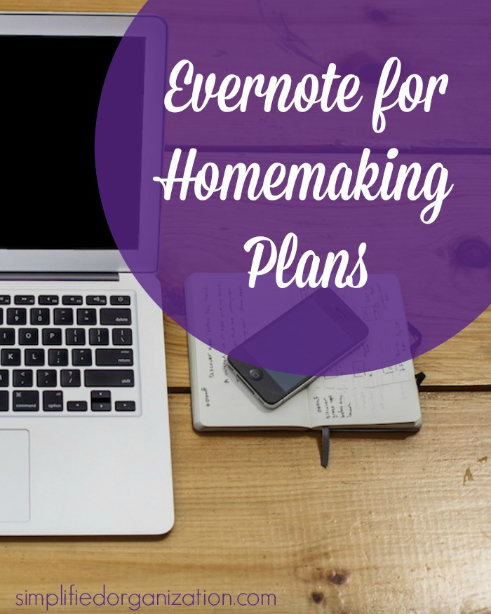 Evernote for Homemaking Plans