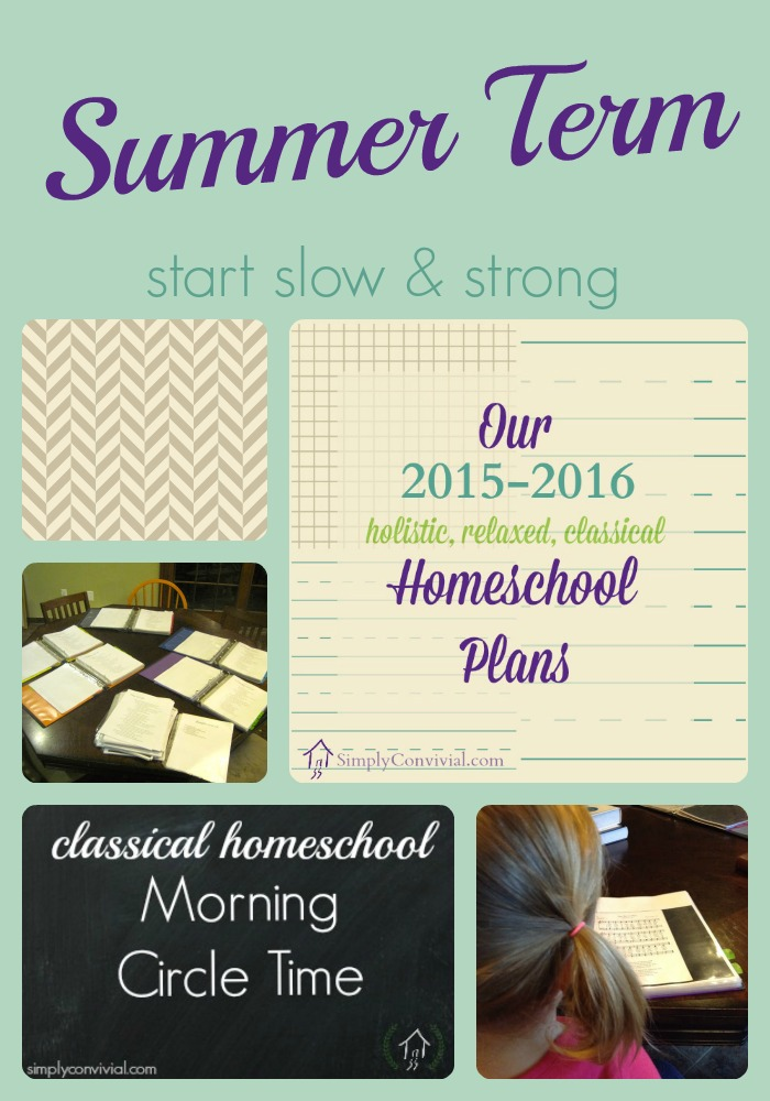 our classical homeschool summer term plan