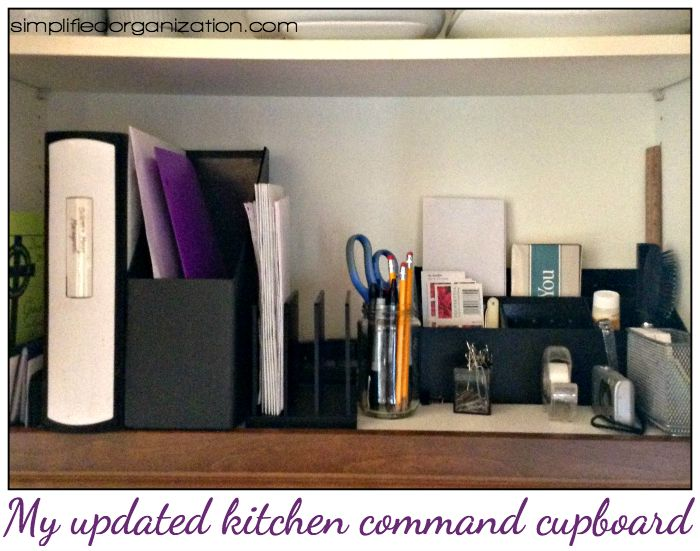 Set up a kitchen command center to stay on top of household tasks and always be ready to get out the door on time!
