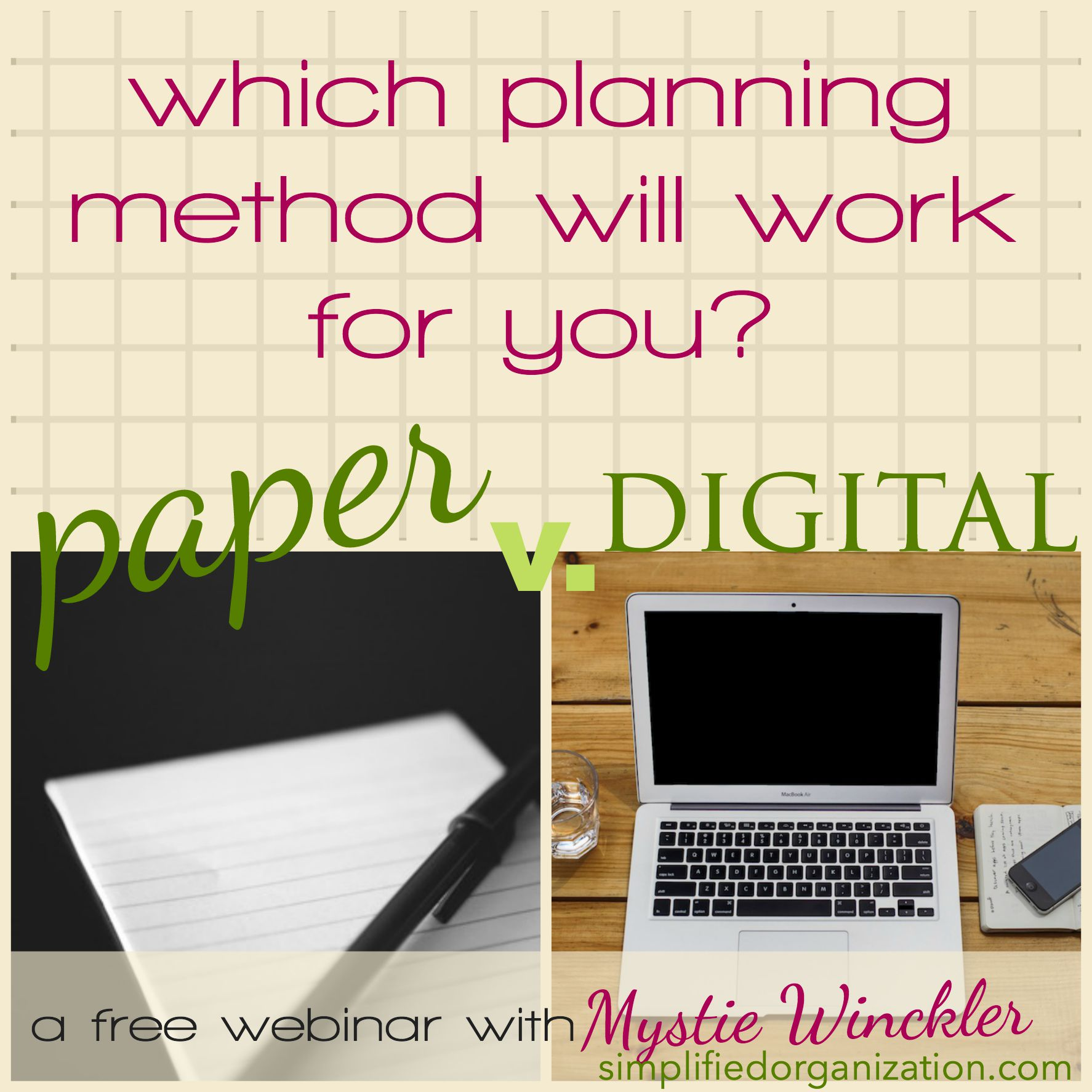 Let's have a chat over what planning methods work for you, whether it's paper, digital or a hybrid. You can customize any system to fit!