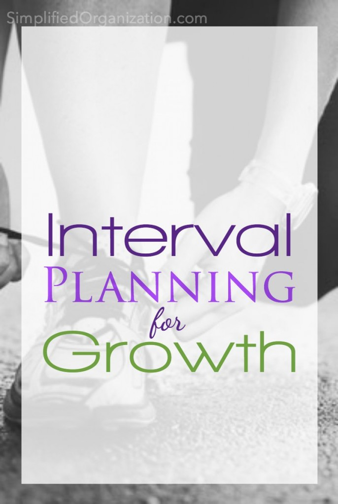 An interval planning system is a way to make goals and projects doable while also growing in our capacity to fulfill our roles and responsibilities. Organize your life in intervals and your energy and focus will expand. You will manage your home with more clarity with interval plans.