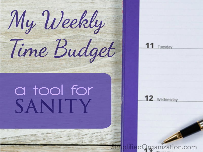 Learn how to manage your day better with a weekly time budget.