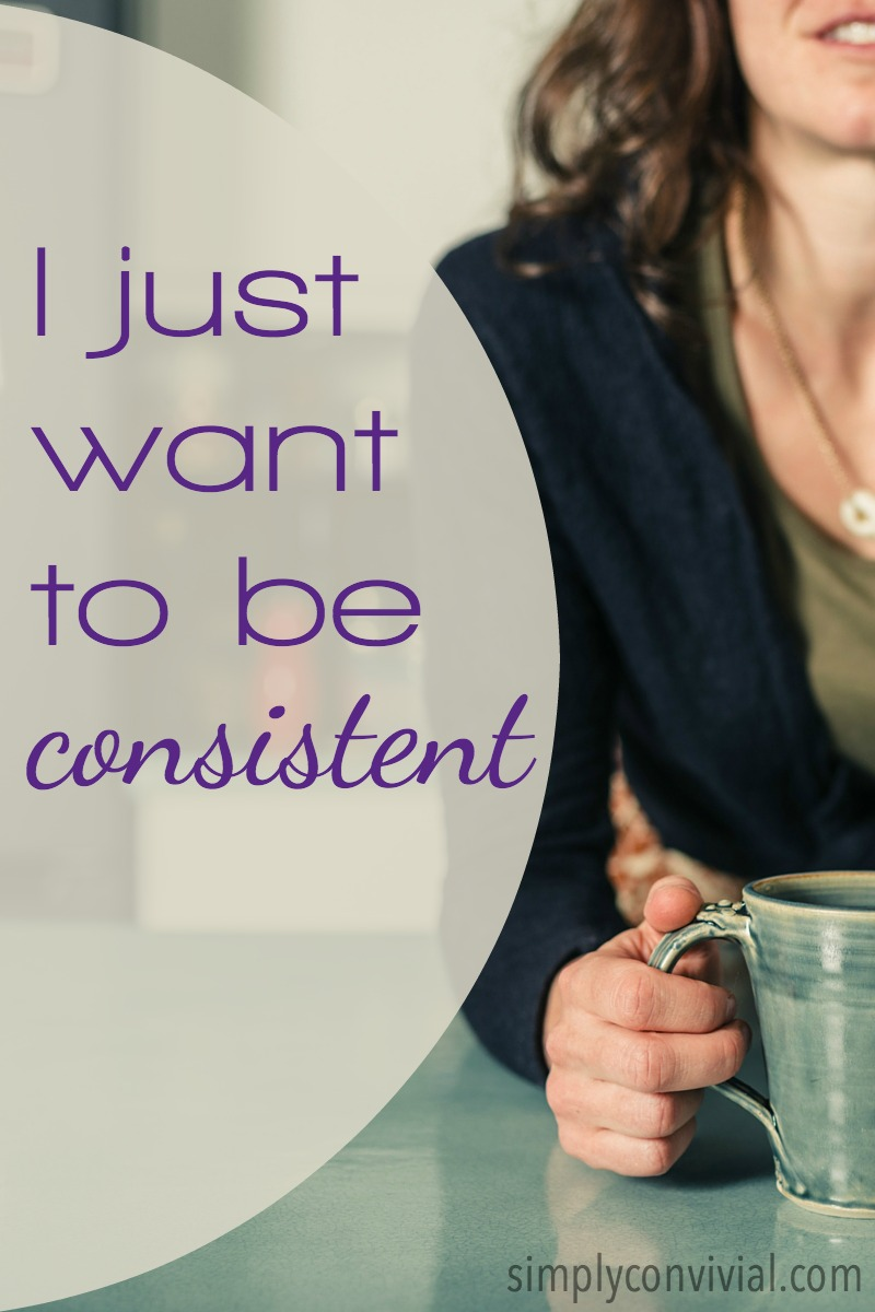 I hear homeschool moms lament over and over their own lack of consistency. Let's add some consistency to our homemaking & homeschooling in 2016.