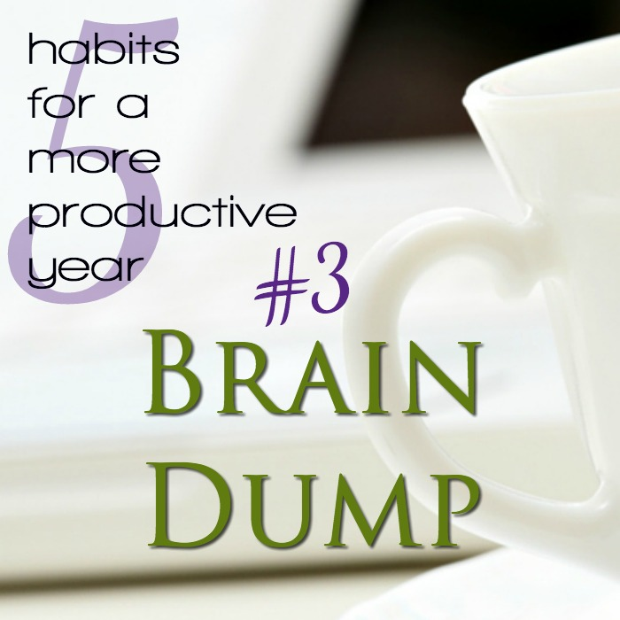 A brain dump is an essential productivity habit, especially for moms