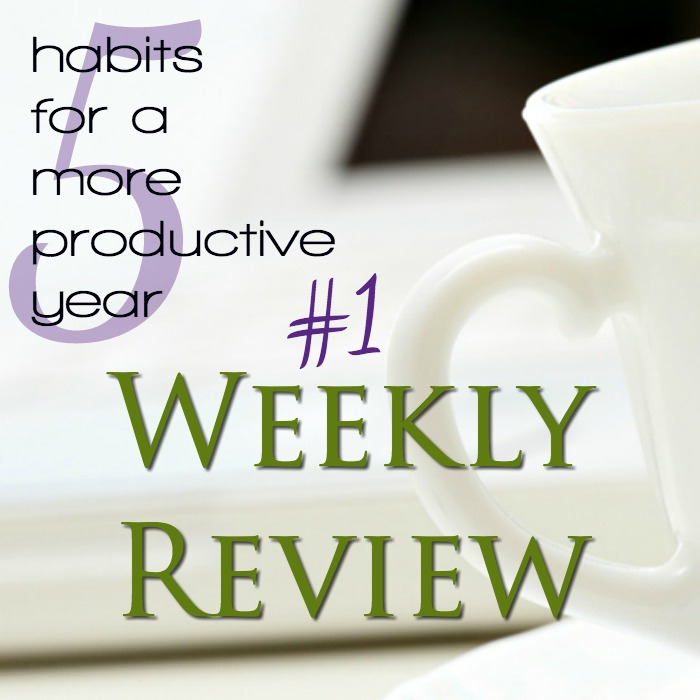 A weekly review is an important habit of productivity, even for moms