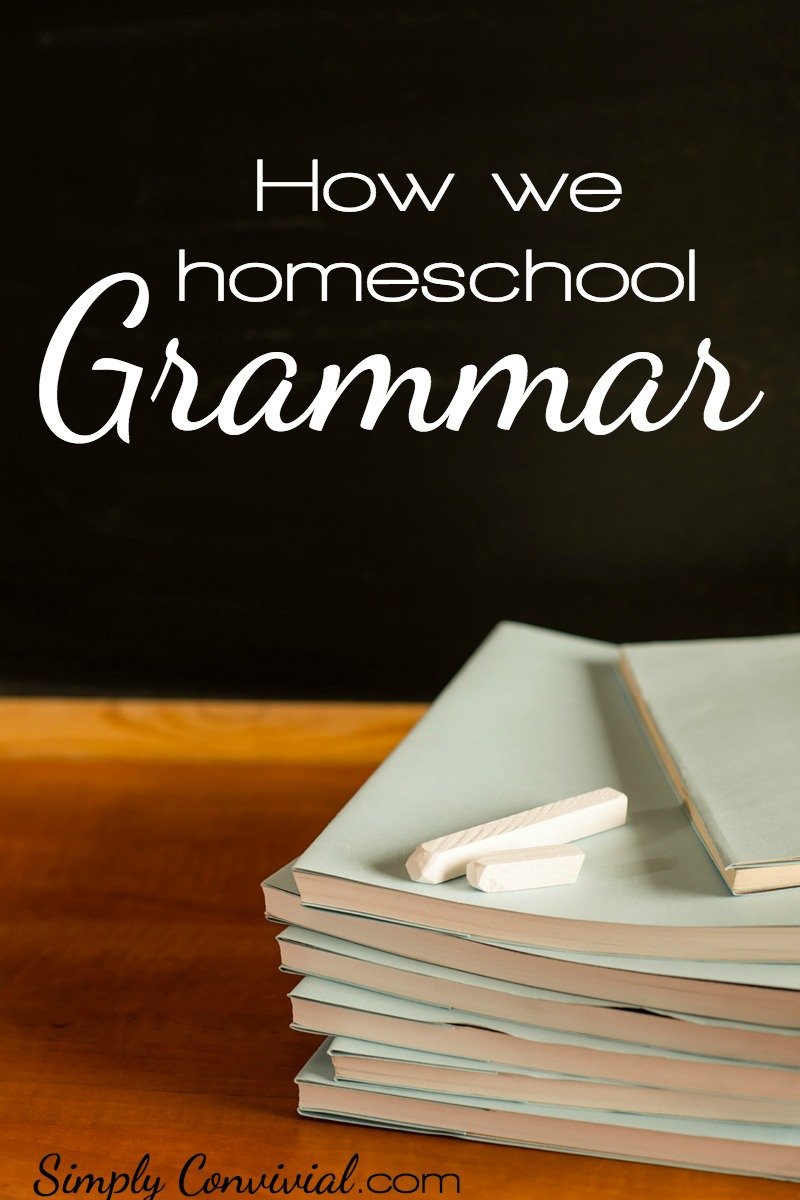 How we homeschool grammar simply and effectively over the course of 2-3 years in middle school. Homeschooling grammar doesn't have to be painful.