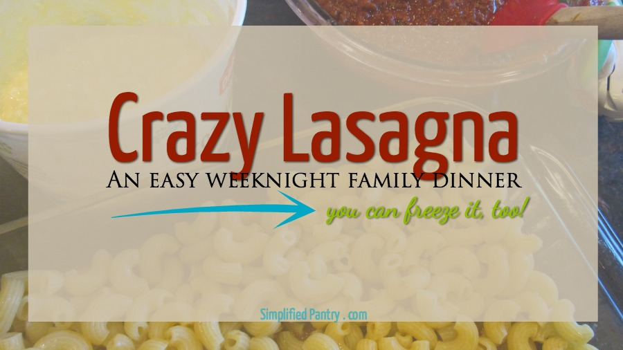 Lasagna is a lot of work. But this Crazy Lasagna simplifies the process and makes it faster, easier, and cleaner. Make simple lasagna on a weeknight!
