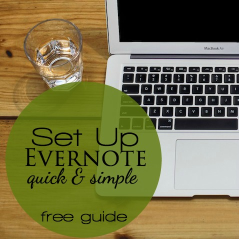 Learn how Evernote can help you get organized. Download the free set up guide to get started today with paperless home organization.