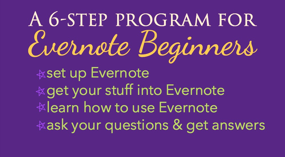 Join this 6-day Evernote challenge and grow confident and efficient in how you use the program!