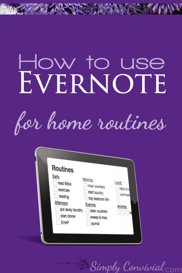 Evernote for Home Routines