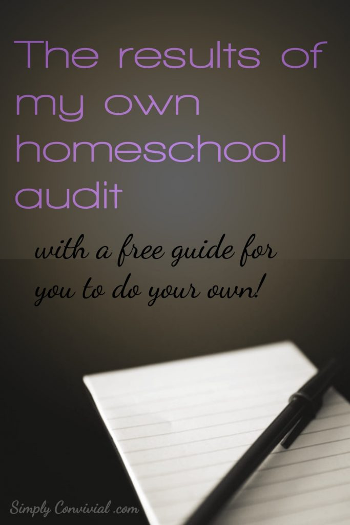 My own homeschool audit – with the free guide!