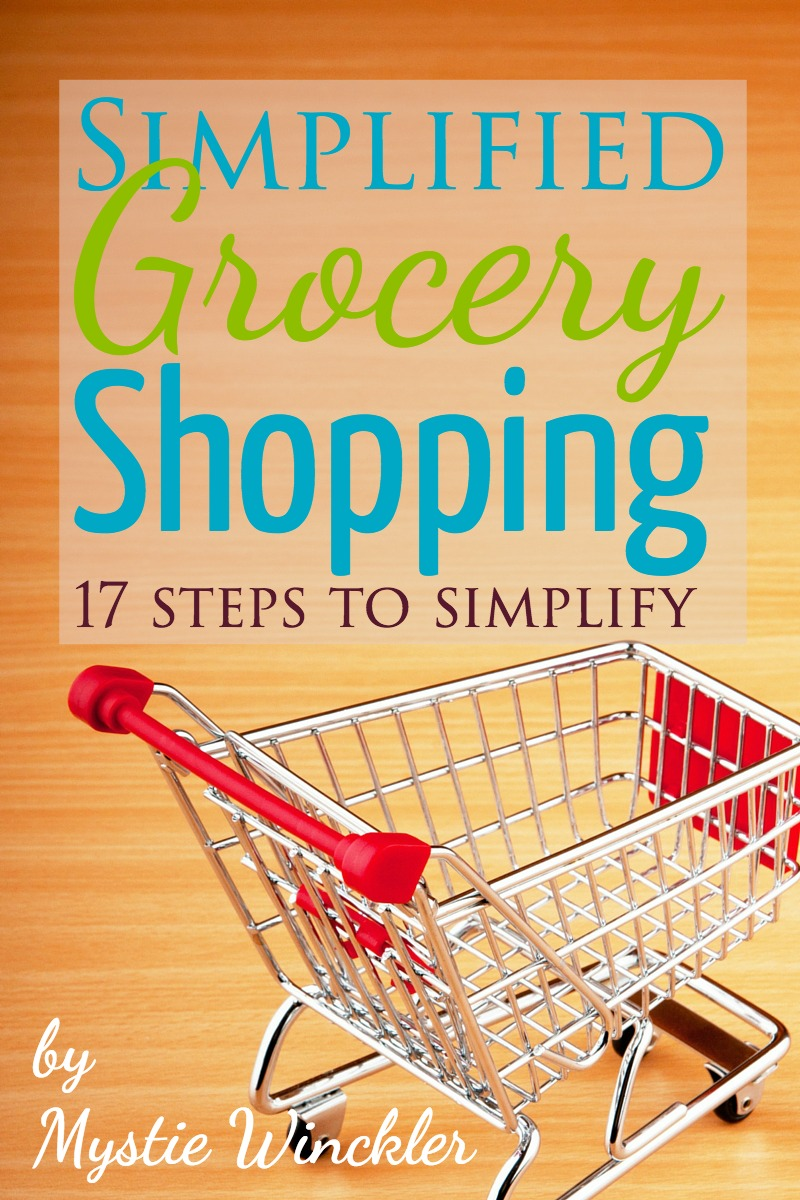 Walk step-by-step through simplifying your entire grocery routine