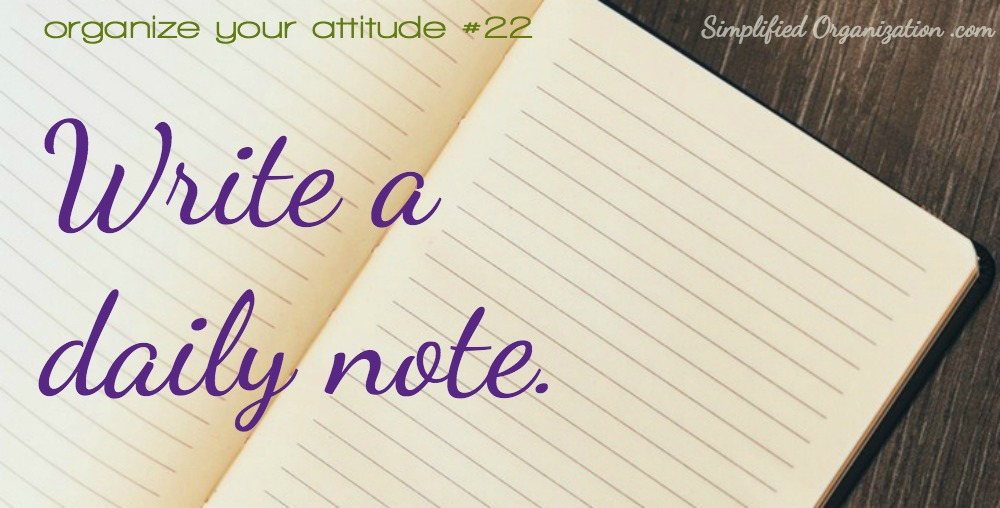 Write a daily note.