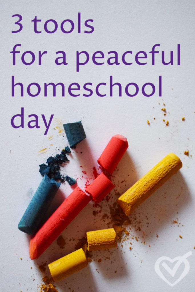 3 tools for a peaceful homeschool day