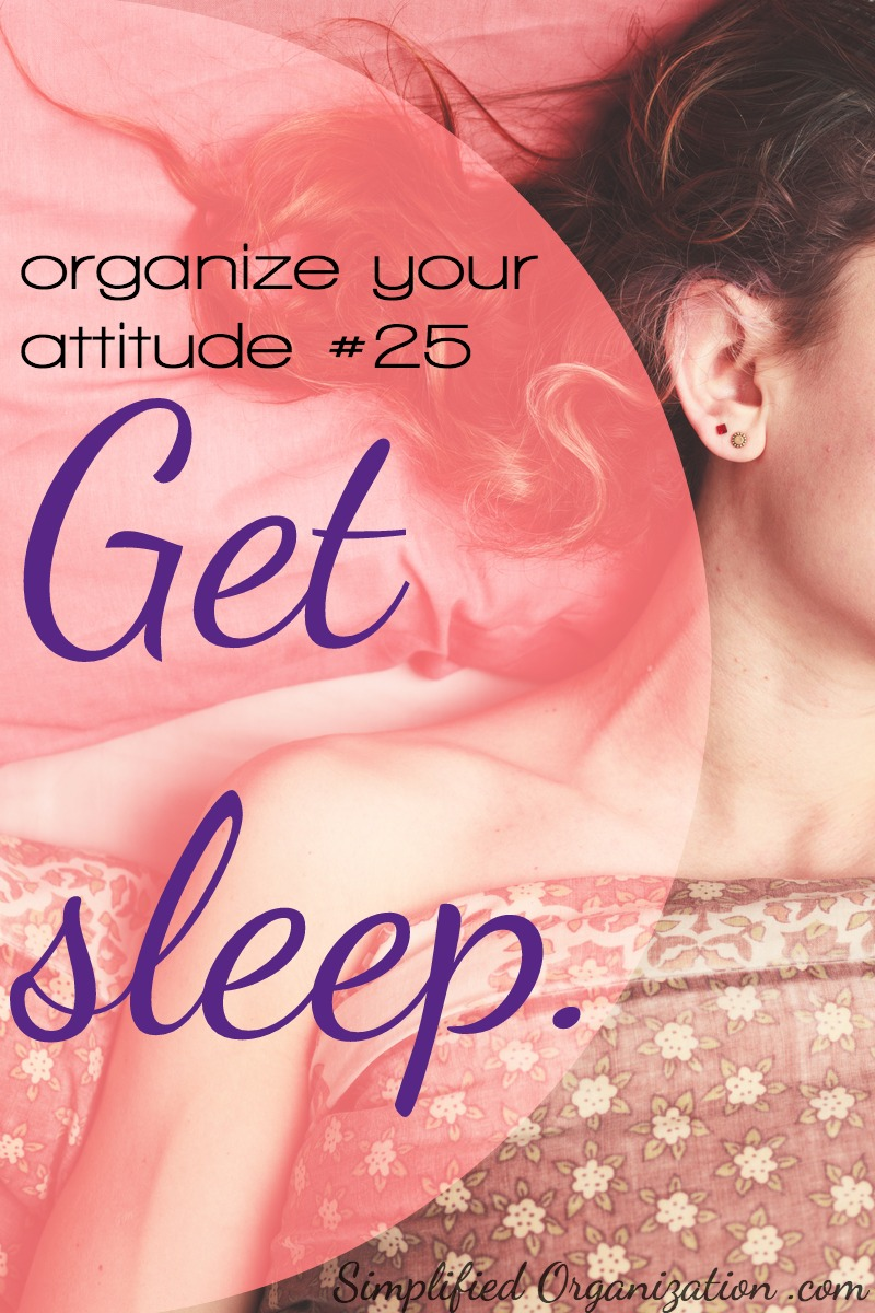 Sleeping is restorative and often what our minds and bodies are craving when they start shutting down.