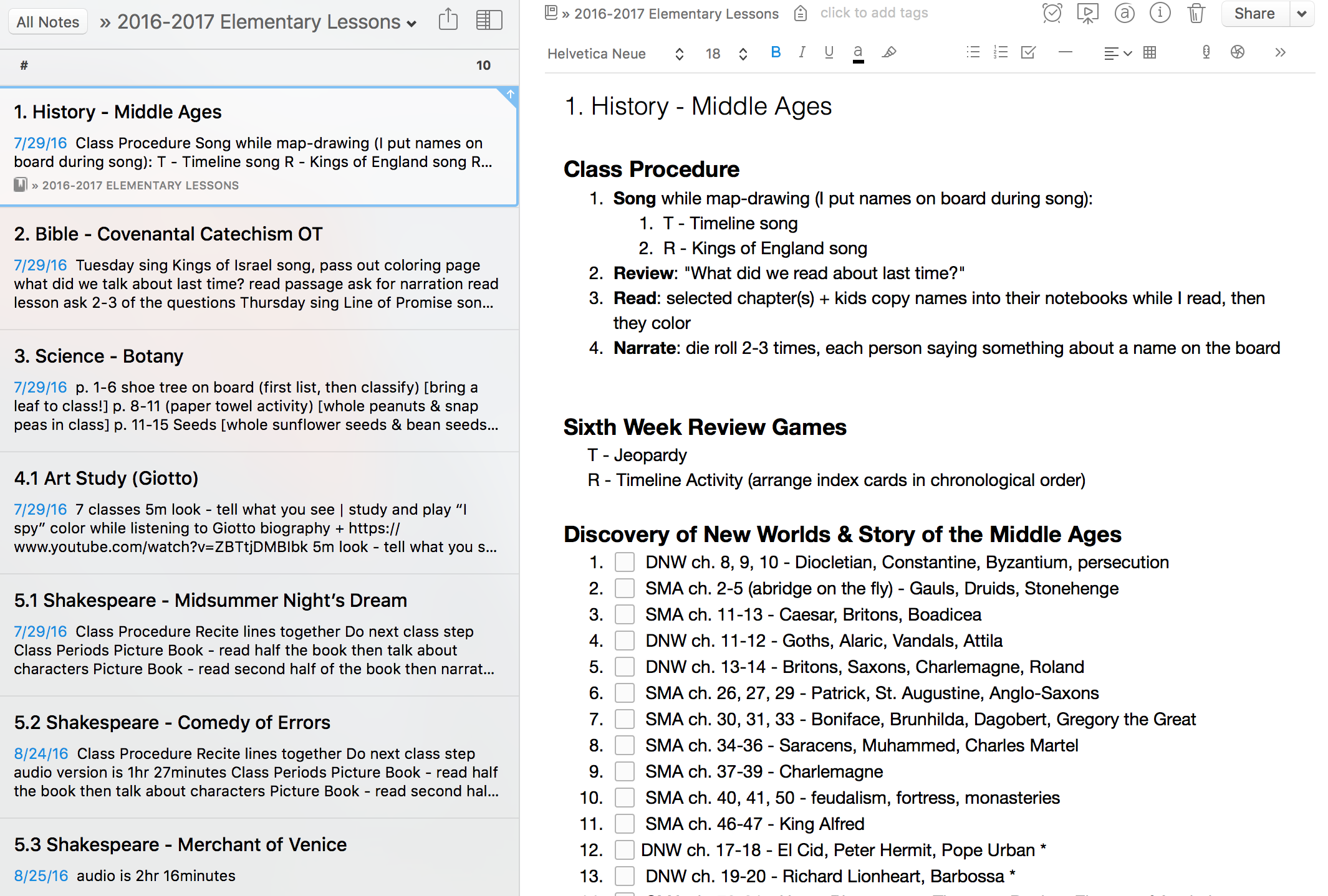homeschool lesson plans for middle ages history