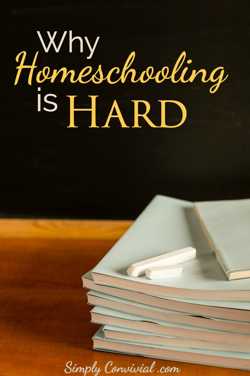 Is homeschooling hard for you? That doesn't mean you should give up. Did you expect homeschooling to be hard? Homeschooling is hard, and good for us.