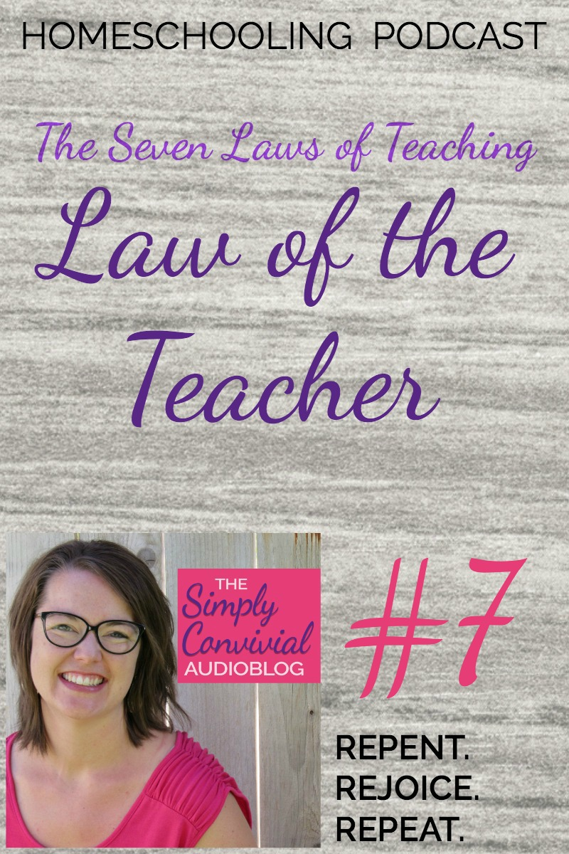 The teacher must know that which he would teach. Does that apply even to homeschool moms? Yes, it does! Listen to this podcast episode and find out how.